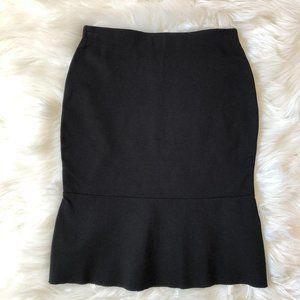 Mango Basics Black Fit & Flare Skirt XXS